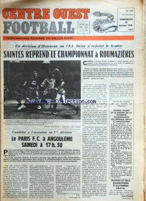 CENTRE OUEST FOOTBALL no:1378 20/01/1978