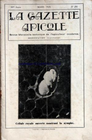 GAZETTE APICOLE (LA) no:292 01/03/1929
