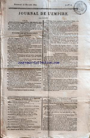 JOURNAL DE L'EMPIRE no: 25/10/1807