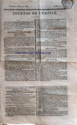 JOURNAL DE L'EMPIRE no: 07/10/1807