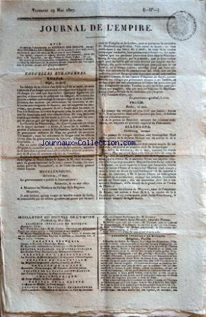 JOURNAL DE L'EMPIRE no: 29/05/1807