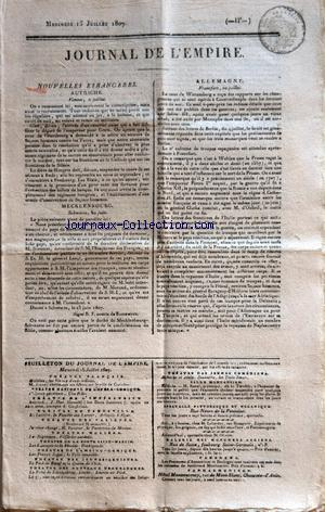 JOURNAL DE L'EMPIRE no: 15/07/1807