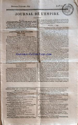 JOURNAL DE L'EMPIRE no: 08/07/1807