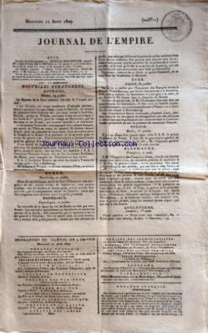 JOURNAL DE L'EMPIRE no: 12/08/1807