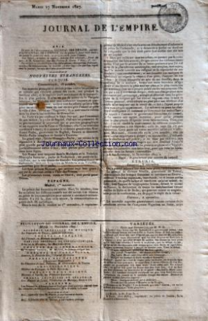 JOURNAL DE L'EMPIRE no: 17/11/1807