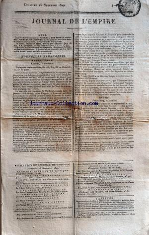 JOURNAL DE L'EMPIRE no: 15/11/1807
