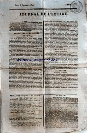 JOURNAL DE L'EMPIRE no: 05/11/1807