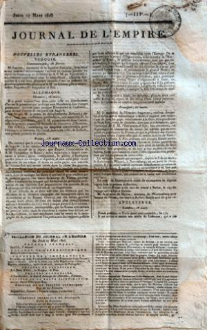 JOURNAL DE L'EMPIRE no: 27/03/1806