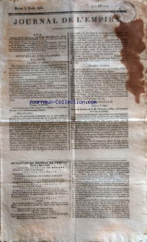 JOURNAL DE L'EMPIRE no: 04/03/1806
