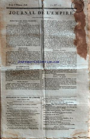 JOURNAL DE L'EMPIRE no: 06/02/1806