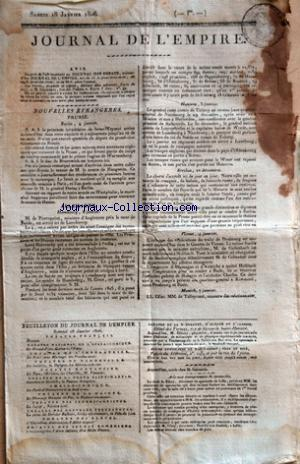JOURNAL DE L'EMPIRE no: 18/01/1806