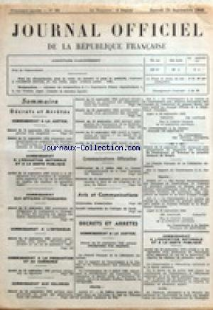 JOURNAL OFFICIEL DE LA REPUBLIQUE FRANÇAISE no:22 25/09/1943