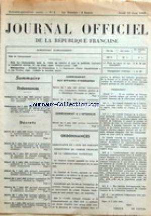 JOURNAL OFFICIEL DE LA REPUBLIQUE FRANÇAISE no:1 10/06/1943