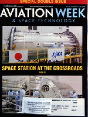 AVIATION WEEK AND SPACE TECHNOLOGY no: 21/08/2006