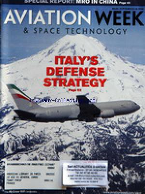 AVIATION WEEK AND SPACE TECHNOLOGY no: 18/09/2006