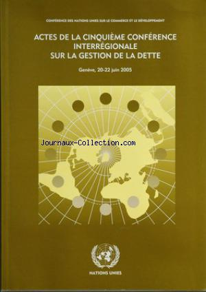 CONFERENCE DES NATIONS UNIES  no: 20/06/2005