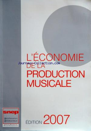 ECONOMIE DE LA PRODUCTION MUSICALE (L') no: 31/12/2007