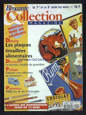 BROCANTE ET COLLECTION MAGAZINE no:1 20/02/1997