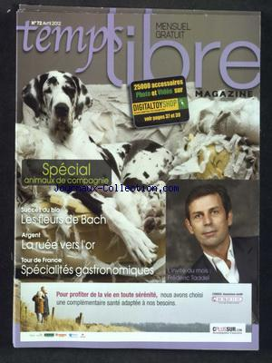 TEMPS LIBRE MAGAZINE no:72 01/04/2012