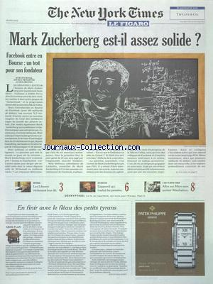 NEW YORK TIMES FIGARO (THE) no:21086 18/05/2012