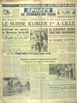 SPORTS LE JOURNAL DU TOUR no:318 26/06/1947