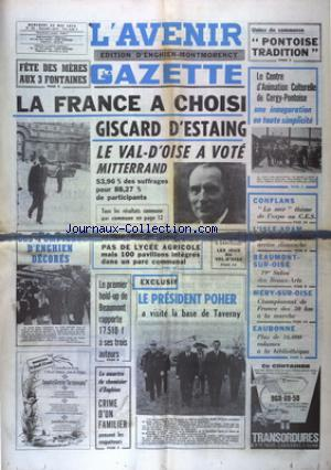 AVENIR GAZETTE EDITION D'ENGHIEN MONTMORENCY (L') no:194 22/05/1974