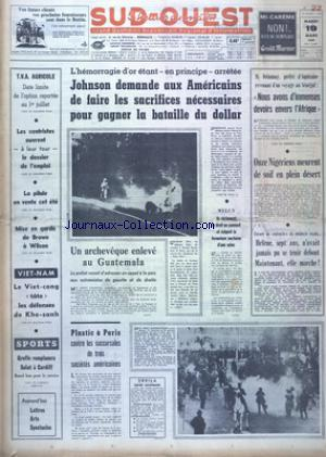 SUD OUEST no:7329 19/03/1968