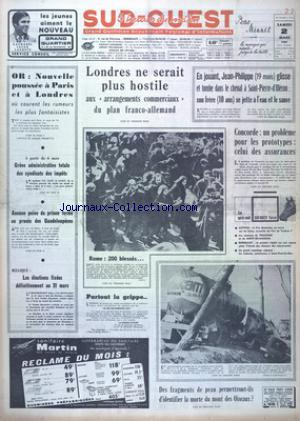 SUD OUEST no:7315 02/03/1968