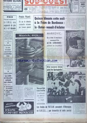 SUD OUEST no:7520 30/10/1968