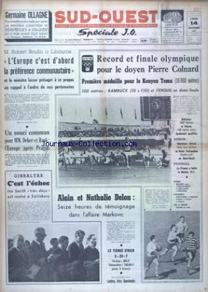 SUD OUEST no:7506 14/10/1968