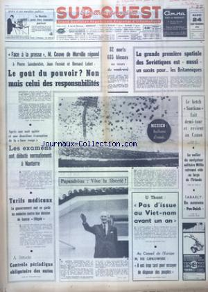 SUD OUEST no:7489 24/09/1968