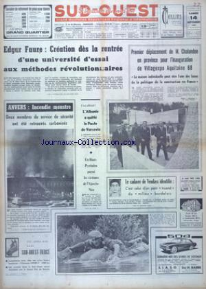 SUD OUEST no:7481 14/09/1968