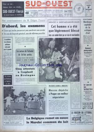 SUD OUEST no:7475 07/09/1968