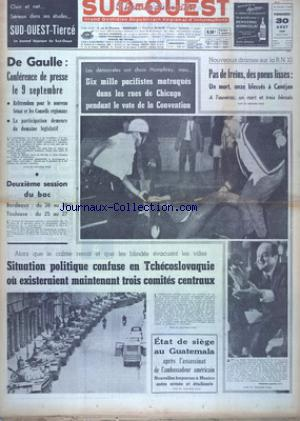 SUD OUEST no:7468 30/08/1968