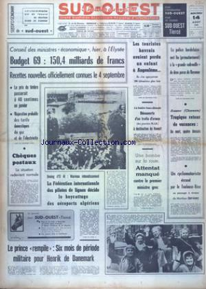 SUD OUEST no:7454 14/08/1968
