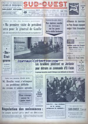 SUD OUEST no:7448 07/08/1968