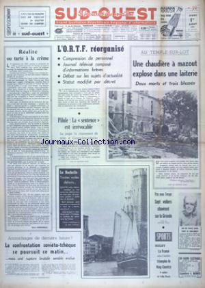 SUD OUEST no:7443 01/08/1968