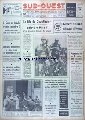 SUD OUEST no:7423 09/07/1968