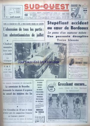 SUD OUEST no:7415 29/06/1968