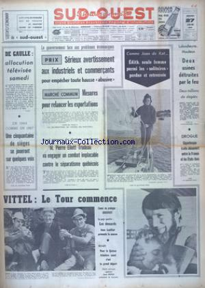 SUD OUEST no:7413 27/06/1968