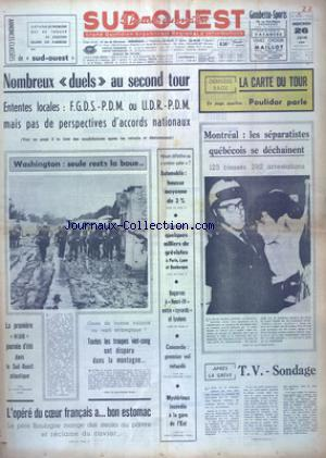 SUD OUEST no:7412 26/06/1968