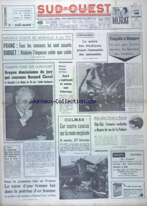 SUD OUEST no:7537 19/11/1968
