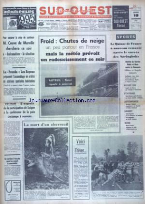 SUD OUEST no:7536 18/11/1968