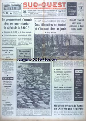 SUD OUEST no:7534 15/11/1968