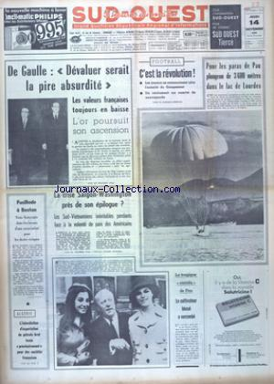 SUD OUEST no:7533 14/11/1968