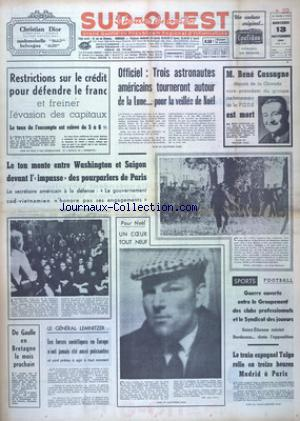SUD OUEST no:7532 13/11/1968
