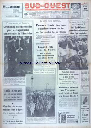 SUD OUEST no:7531 12/11/1968