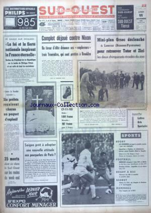 SUD OUEST no:7530 11/11/1968