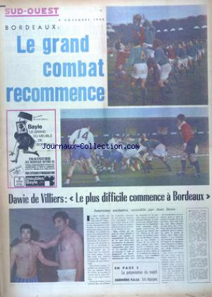 SUD OUEST no:7529 09/11/1968