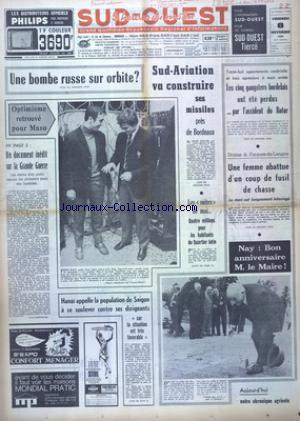SUD OUEST no:7528 08/11/1968